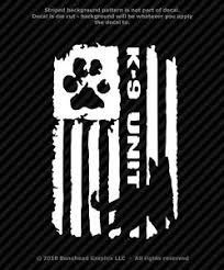 Distressed K9 Unit Police Flag Vinyl Decal Canine Military Sticker 4 Sizes Ebay