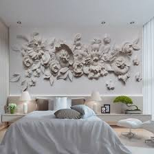 Shop Custom Photo Wallpaper European Style 3d Stereoscopic Relief Flower Wall Mural Paper Living Room Bedroom Bedside Wall Painting Online From Best Wall Stickers Murals On Jd Com Global Site Joybuy Com