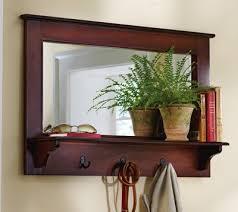 hallway mirror with coat hooks