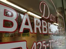 Window Graphics For Dan S Barbershop Vinyl Lab Nw Sign Company
