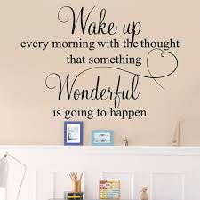 Happiness Wall Stickers Wake Up Every Morning Love Quotes Home Decoration Living Room Vinyl Bedroom Artistic Wardrobe Decal Y751 Wall Stickers Aliexpress