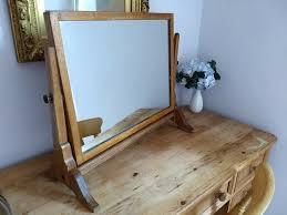 antique vintage oak dressing table