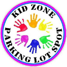 Kids Zone Parking Lot Spot Car Decal Child Safety Aid Pink Circle Multi Hand Ebay