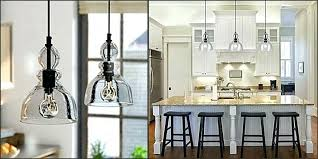 clear glass pendant lights for kitchen