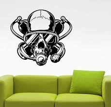Scuba Diving Wall Decal Diver Skull Sticker Home Interior Design Bedroom Bathroom Wall Art Extreme Sports Underwater Diving Club Decor 2dvz Wish