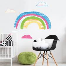 Colorful Rainbow Peel And Stick Giant Wall Decals Us Wall Decor