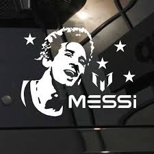 Messi Football Player Sticker Sports Soccer Car Decal Helmets Kids Room Posters Vinyl Wall Decals Football Sticker Football Sticker Room Posterkids Room Aliexpress