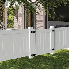 Freedom Emblem 4 Ft H X 4 Ft W White Vinyl Flat Top Fence Gate In The Vinyl Fence Gates Department At Lowes Com