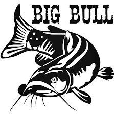 Big Bull Catfish 90 Decal Vinyl Decals Fish Silhouette Catfish