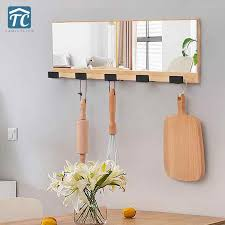 wall mounted wooden coat hook with