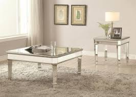 silver mirror panel occasional table