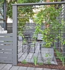 Tension Wire Railing Modern Landscaping Backyard Garden Privacy