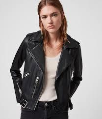 allsaints uk leather jackets for women