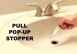 cleaning overflow drain bathroom sink
