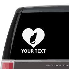 Bengal Cat Heart Car Window Decal Vinyl Sticker Custom Gifts Etc