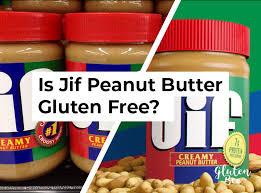 is jif peanut peanut er gluten free