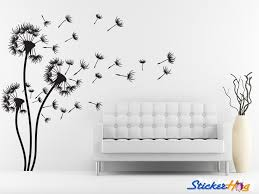 Dandelions Decorative Flowers 3 Floral Wall Decals Graphic Vinyl Sticker Bedroom Living Room Wall Home Decor