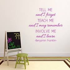 Shop Involve Me And I Learn 36 Inch X 36 Inch Vinyl Wall Decal On Sale Overstock 10199436