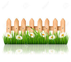 Background With A Wooden Fence With Grass Flowers And Butterflies Royalty Free Cliparts Vectors And Stock Illustration Image 28032514