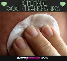 homemade face cleansing wipes for