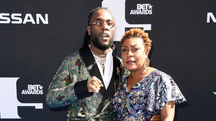 """Image result for burna boy and mom"""""""