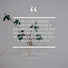 there is a very remarkable inclination david hume about nature