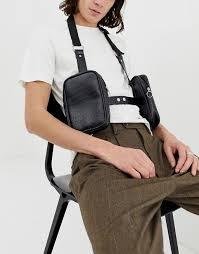 mens leather bag harness fashion