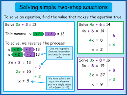 how to solve two step linear equations
