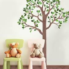 Large Woodland Tree Wall Decals Eco Friendly Fabric Wall Decals