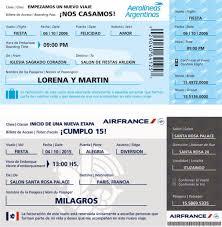 20 Invitaciones Tipo Ticket Vip Cumpleanos Casamientos 160 00