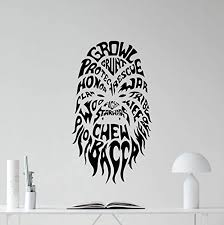 Amazon Com Chewbacca Wall Decal Star Wars Monster Character Sste Living Room Wall Decals Lettering Vinyl Sticker Kids Wall Art Design Bedroom Nursery Wall Decor Stencil Wall Mural 68ps Home Kitchen