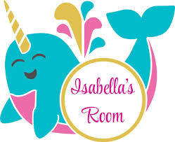 Personalized Name Vinyl Decal Sticker Custom Initial Wall Art Personalization Decor Childrens Girl Bedroom Colorful Unicorn Narwhal Magical Fairytale 20 Inches X 20 Inches Walmart Com Walmart Com
