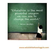 slogan dalam bahasa inggris tentang pendidikan artinya