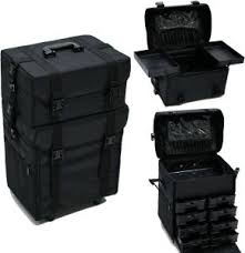 travel wheel organizer black canvas