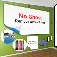Snagshout Large Whiteboard Paper 6 X4 Removeable Dry Erase Paper Self Adhesive White Board For Walls Doors Stain Proof Dry Erase Wall Sticker For Whiteboards Chalkboards 6 Dry Erase Markers 2 Scrapers