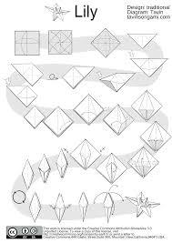 origami lily diagram tutorial origami