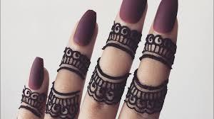 mehndi design just finger