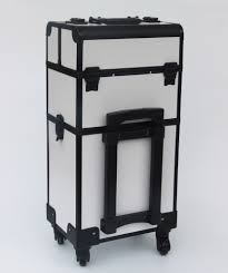 makeup trolley case black and white