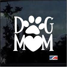 Dog Mom Heart Window Decal Sticker Car Decals Family Car Decals Car Decals Vinyl