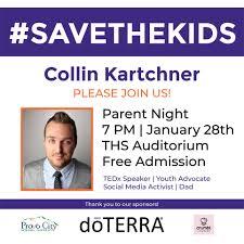 TEDx speaker Collin Kartchner ...