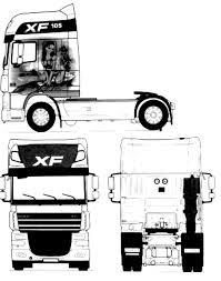 blueprints trucks daf daf xf 105