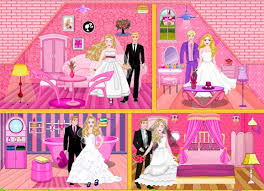 barbie wedding doll house game