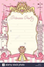 Invitacion A Fiesta De Princesa Vectores Concepto De Plantillas