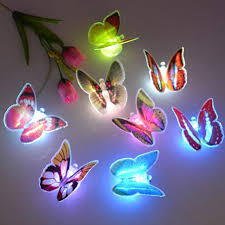 20 Pcs Led Flashing 3d Butterfly Wall Decor Night Light Lamp Kids Bedroom Decor Walmart Com Walmart Com