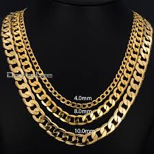 18 36inch long curb chain necklace