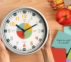 Time Teaching Kids Learning Clock Kids Room Playroom Decor Analog Wall Clock For Sale Online