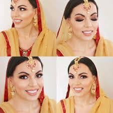 indian bridal makeup and hair styling