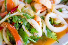 Seafood Salad Thai Style Stock Photo ...