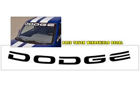 Graphic Express 1996 Dodge Ram 1500 Indy Windshield Decal Dodge 3 1 2 X 53 1 2