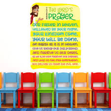 The Lords Prayer Wall Words Creative For Kids
